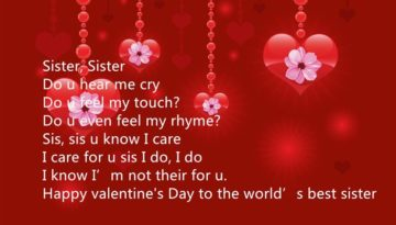 Happy Valentines Day Wishes for Sister 2018 |Hindi English