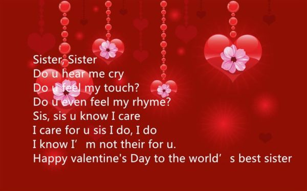 Happy Valentines Day Wishes for Sister 2018  Hindi English